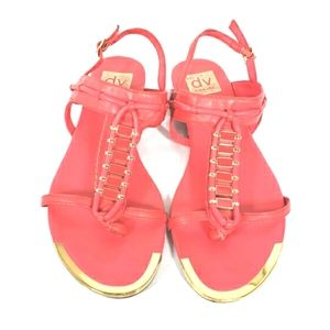 Dolce Vita Coral and Gold Sandles Size 6.5